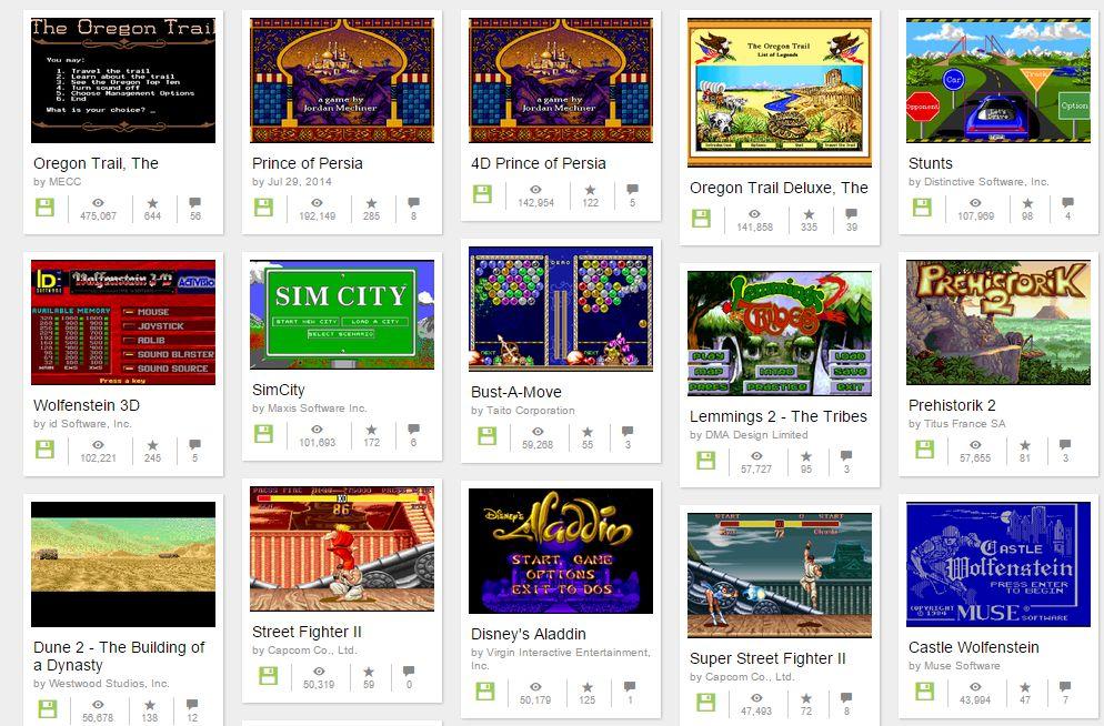 Mehr als 2200 DOS-Spiele lassen sich bei archive.org kostenlos im Browser spielen.
