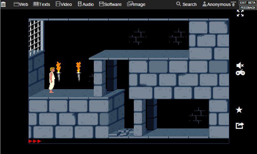 Prince of Persia lässt sich gut im Browser spielen. Ab und zu knackt allerdings der Sound.