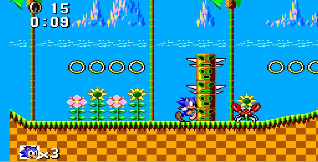 Sonic the Hedgehog fürs Master System II. Green Hill Zone.