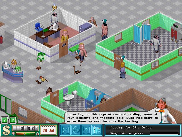 Theme Hospital (1997) gibts für kurze Zeit kostenlos.